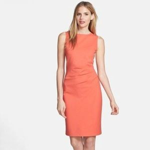 NWT Kenneth Cole Coral Sheath Dress with Zip Back
